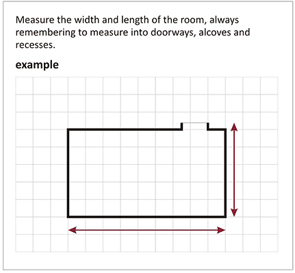 Measuring Guide The Carpet Stop