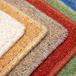 Carpet Binding on 6 different coloured carpets